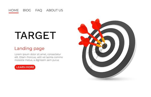 Pagina di destinazione target, attività commerciale.