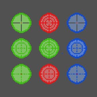 Segno di destinazione con stile pixel art