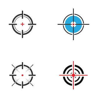 Modello di progettazione dell'illustrazione dell'icona di vettore di destinazione