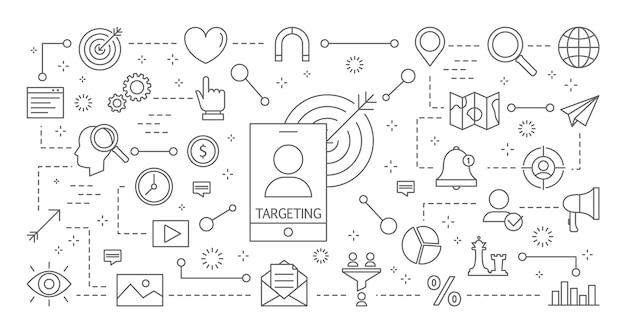 Set di icone di targeting.