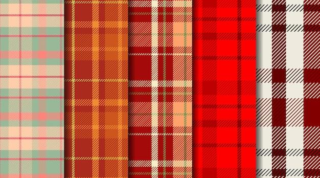 Motivo scozzese scozzese senza cuciture