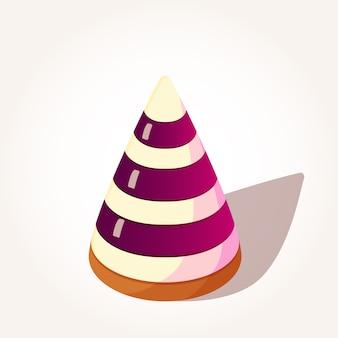 Gustose bacche di gelatina a forma di piramide in stile cartone animato