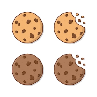 Biscotti saporiti isolati su bianco