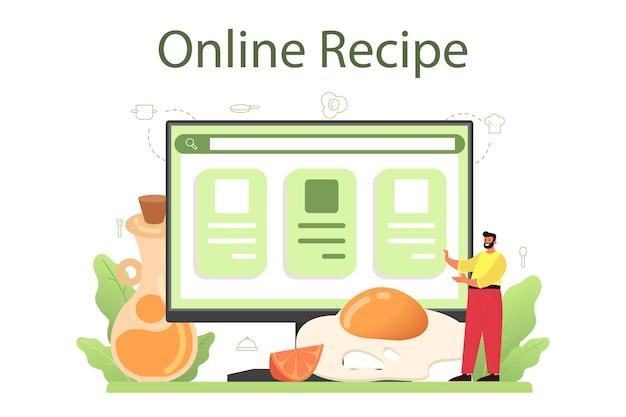 Gustose uova fritte con verdure e pancetta per la prima colazione servizio online o piattaforma