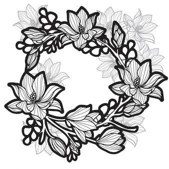 Tatuaggio farfalle di fiori