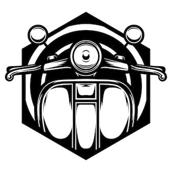 Tatuaggio e disegno della maglietta in bianco e nero vespa