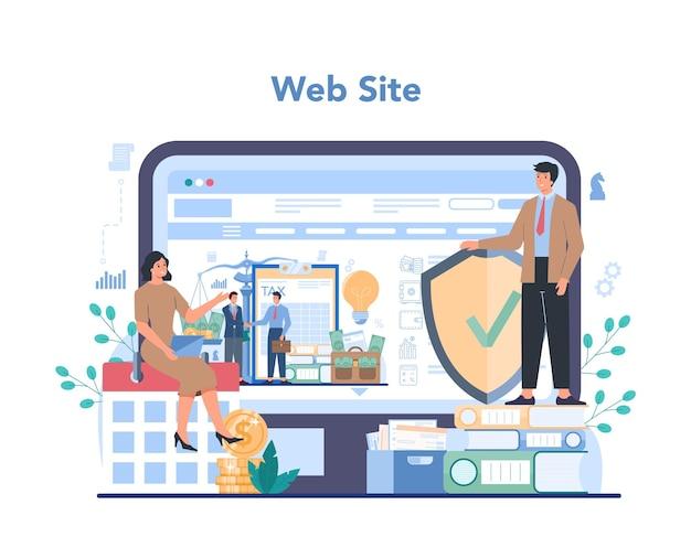 Servizio o piattaforma online di consulente fiscale