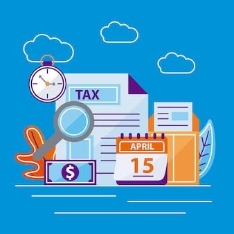 Collezione di icone fiscali