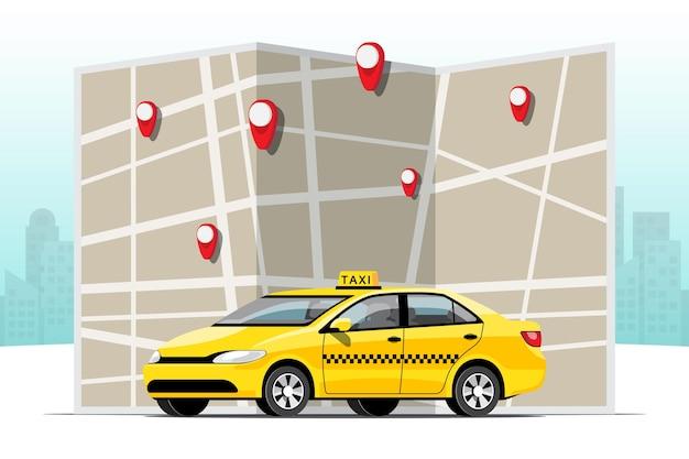 Servizio taxi online con mappa