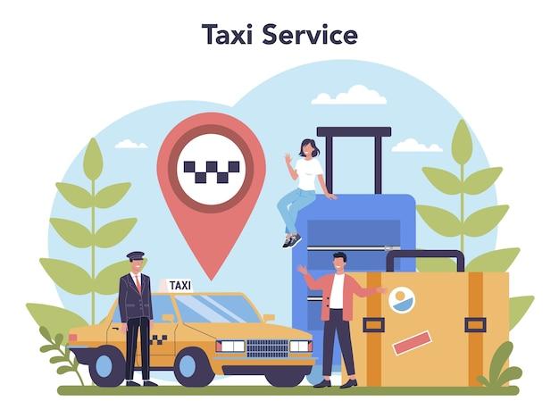 Concetto di servizio taxi
