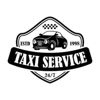 Modello di emblema del servizio taxi. elemento di design per logo, etichetta, segno.