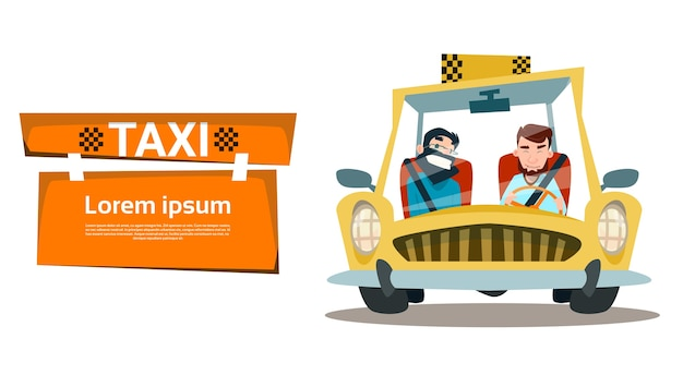 Taxi service two man cab city transport