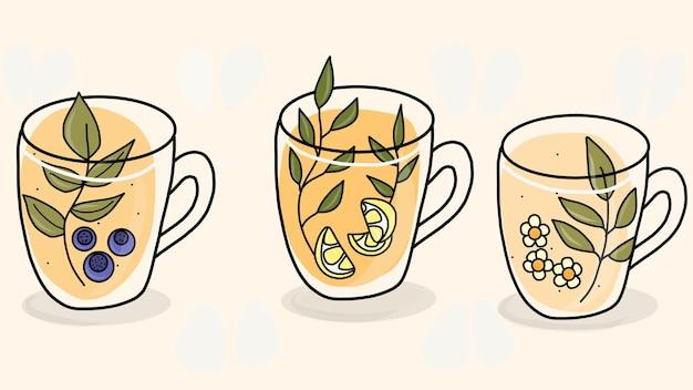 Disegno a mano del tè tea