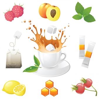 Icone del tè