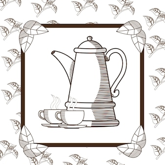 Bollitore e tazze da tè