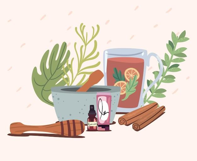 Icone di tè e spa