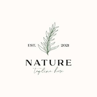 Tea tree monoline vintage hipster per olio essenziale modello di logo isolato in sfondo bianco