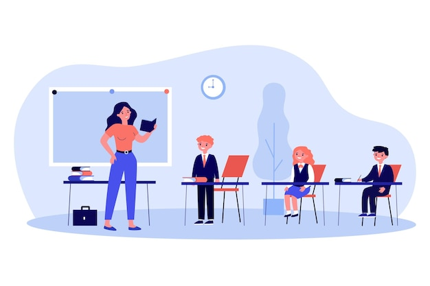 Insegnante che chiede all'alunno in classe