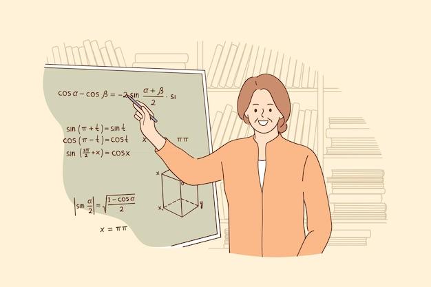 Concetto di processo di apprendimento dell'istruzione di insegnamento