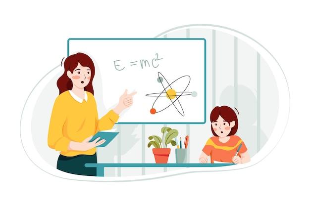Concetto di illustrazione di matematica di insegnamento