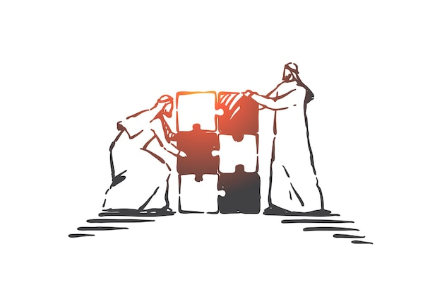 Illustrazione di concetto di esercizio di team building