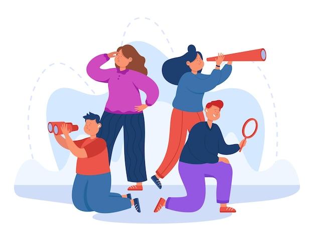 Team di personale aziendale alla ricerca di nuove idee o persone
