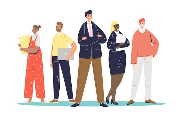 Team di professionisti illustrazione