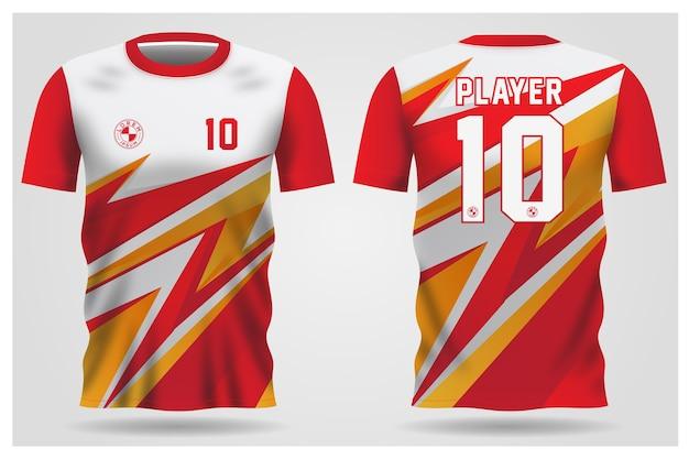 Uniformi della squadra e design della maglietta da calcio Vettore Premium