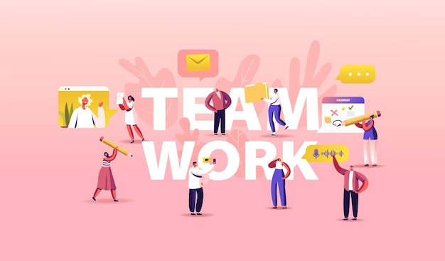 Illustrazione del lavoro di squadra