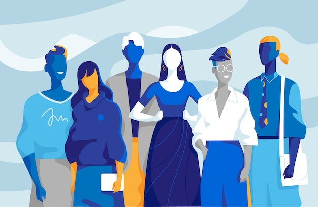 Team di giovani professionisti composto da uomini e donne
