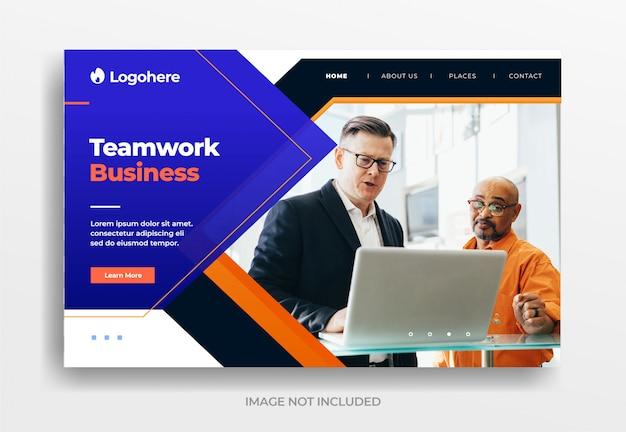 Banner di affari di lavoro di squadra