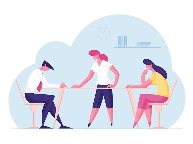 Concetto di lavoro di squadra ufficio businesspeople dipendenti lavorano in azienda