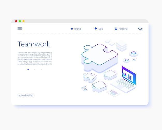 Modello di pagina di destinazione del lavoro di squadra