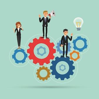 Lavoro di squadra lavora insieme concetto
