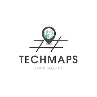 Tech logo locator logo template