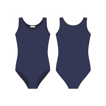 Intimo tecnico da donna con disegno tecnico. i corpi blu indossano per le ragazze