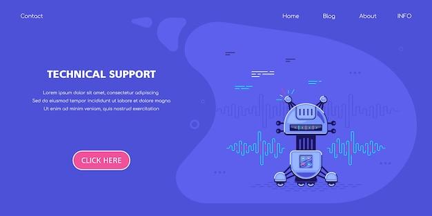Supporto tecnico banner concept design