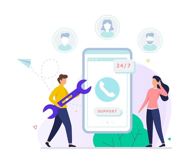 Concetto di supporto tecnico. idea del servizio clienti