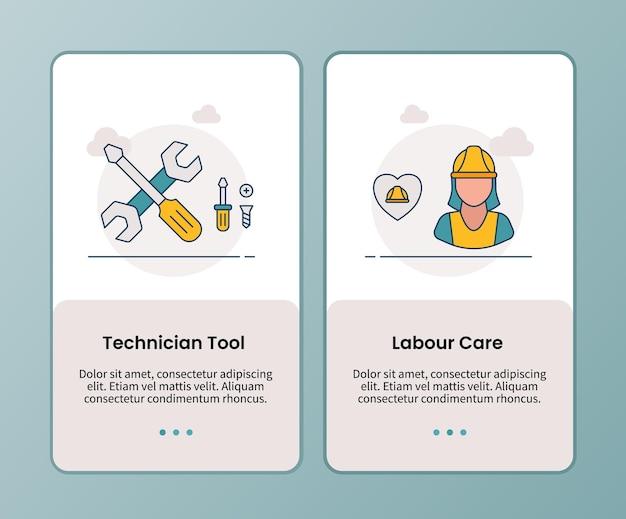 Campagna di assistenza al lavoro per strumenti tecnici per l'onboarding del modello di app mobili