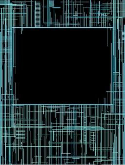 Techno cover con elettrodi, linee e posto per il testo
