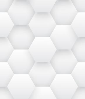 Modello senza cuciture astratto luminoso di esagoni 3d tecnologici