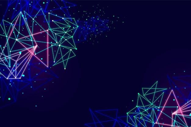 Background tecnologico con forme