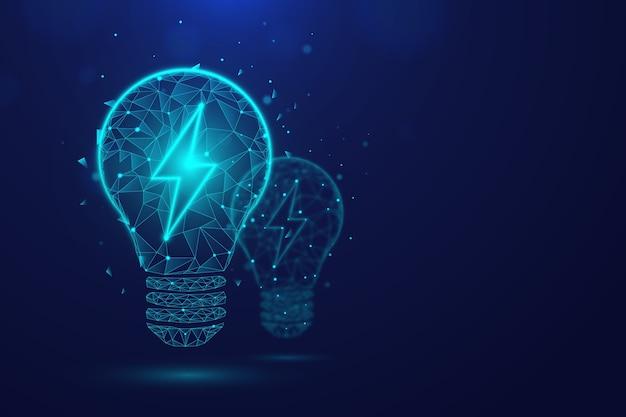 Concetto di ecologia tecnologica con lampadina