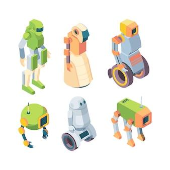 Insieme di isometria futura di robot tecnologici helper