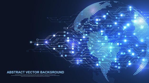 Fondo astratto di struttura del circuito di tecnologia. circuito futuristico ad alta tecnologia. dati digitali. scheda madre elettronica di ingegneria. matrice minimale big data