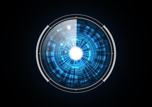 La tecnologia astratta futura sicurezza radar cerchio illustrazione dello sfondo