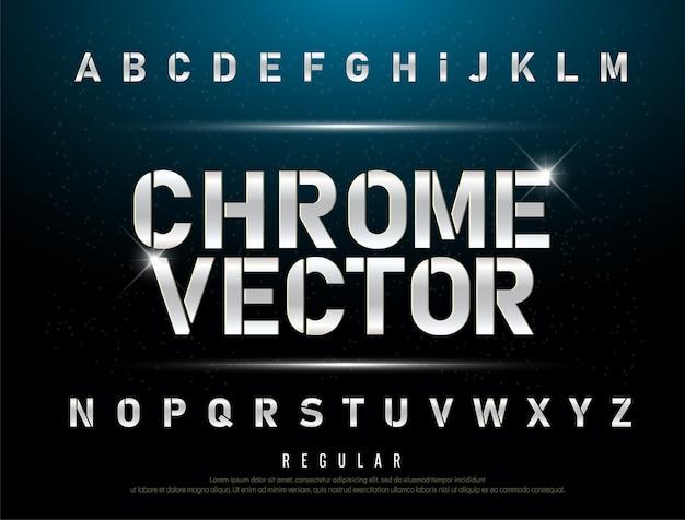 Tecnologia alfabeto argento metallizzato ed effetti
