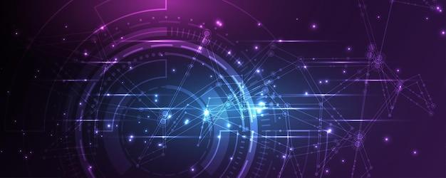Fondo di tecnologia illustrazione di vettore del fondo dell'estratto dell'innovazione di concetto di comunicazione hi-tech