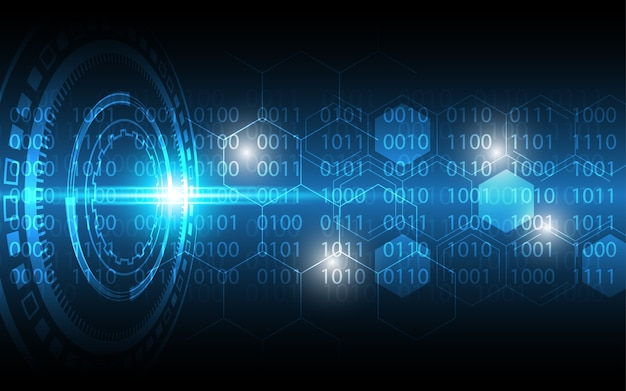 Sfondo di tecnologia hi-tech concetto di comunicazione innovazione sfondo astratto