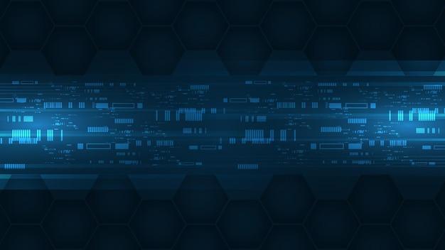 Sfondo tecnologico concetto di comunicazione hi-tech